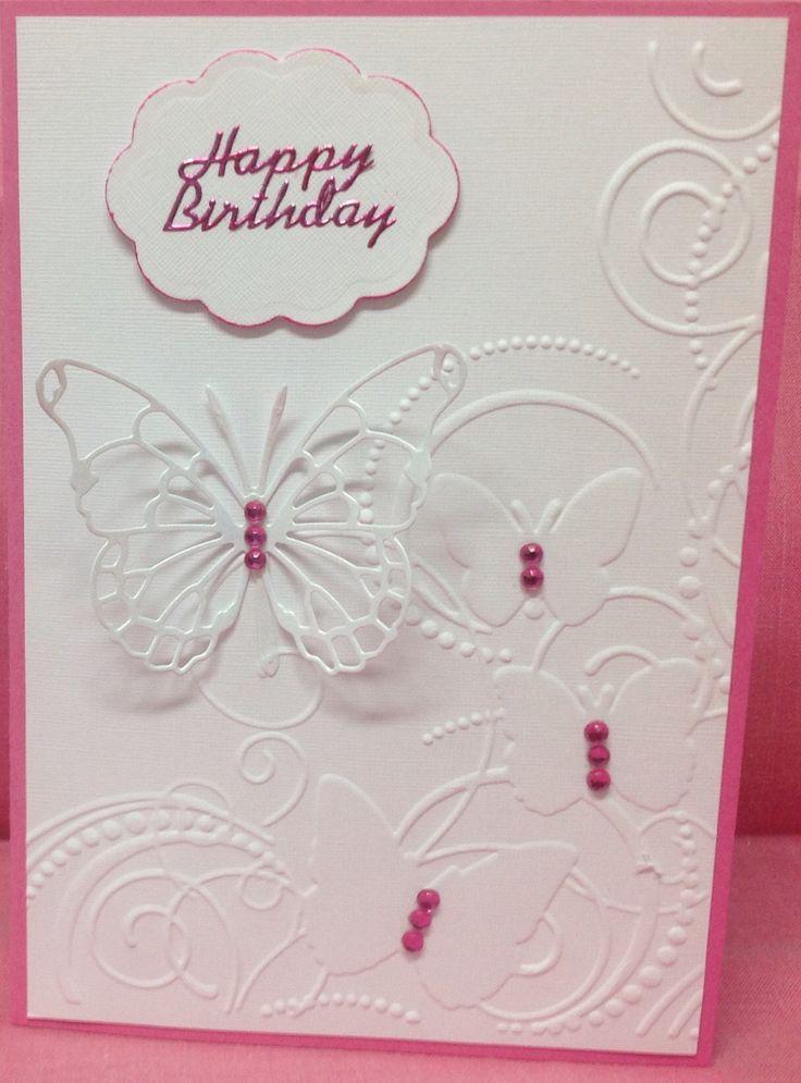 Darice embossing folder Memory Box butterfly die