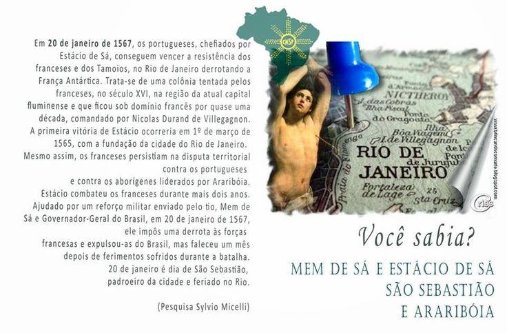 """#CNSPNotícias - Você sabia? - 20 de janeiro de 2015 - A derrota da """"França Antártica"""" para Estácio de Sá ~ Jornalista Sylvio Micelli"""