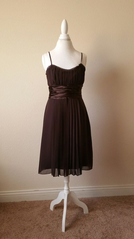 Democracy Brown Cocktail Dress Size 12 | Clothing, Shoes & Accessories, Women's Clothing, Dresses | eBay!