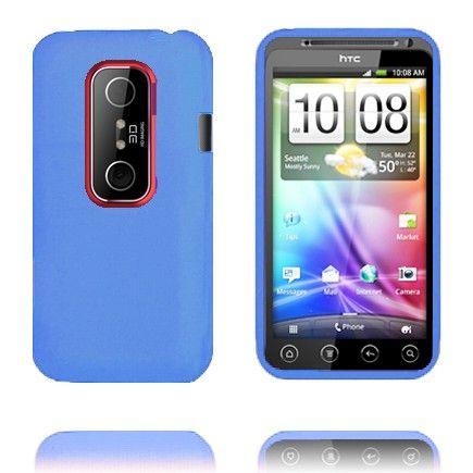 Soft Shell (Blå) HTC Evo 3D Deksel