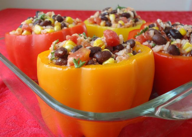 Vegetarian Stuffed Peppers...michael and i have made our own version ...