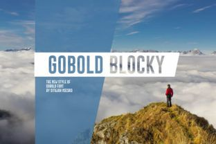 http://Gobold Blocky is a playful font that allows you to createblocks of text. View the preview images to see the different types of blocks that are possible.
