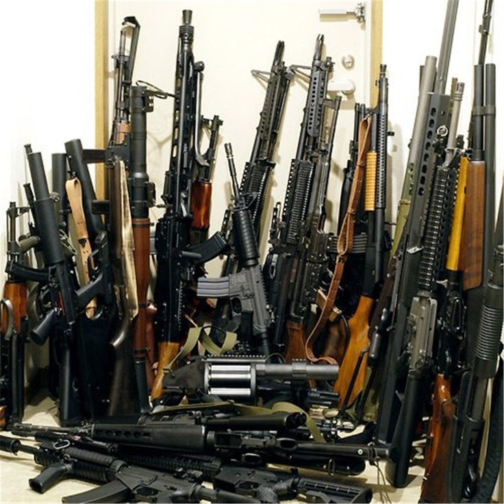 My gun closet.....just in case there are zombies!