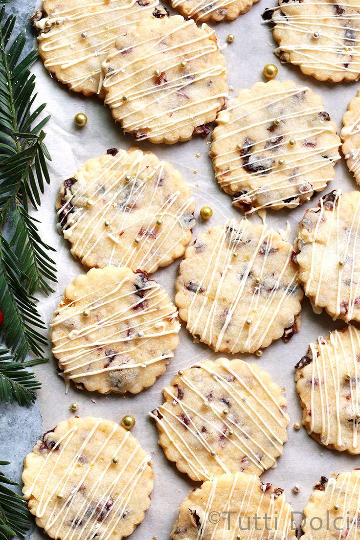 Cranberry Orange Shortbread Cookies | cranberry orange shortbread | shortbread cookies