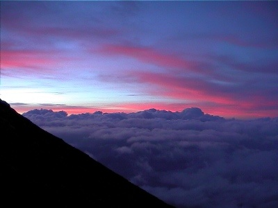 I climbed Gulung Agung 3000 feet thru the pitch of night to watch the sun rise one word............ Majestic!!!