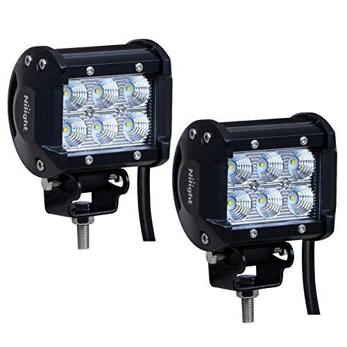 "Nilight Led Light Bar 2PCS 18w 4"" Flood Driving Fog Light Off Road Lights Boat Lights driving lights Led Work Light SUV Jeep Lamp,2 years Warranty - http://www.caraccessoriesonlinemarket.com/nilight-led-light-bar-2pcs-18w-4-flood-driving-fog-light-off-road-lights-boat-lights-driving-lights-led-work-light-suv-jeep-lamp2-years-warranty/  #2Pcs, #Boat, #Driving, #Flood, #Jeep, #Lamp2, #Light, #Lights, #Nilight, #ROAD, #Warranty, #Work, #Years #Lighting, #Replacement-Parts"