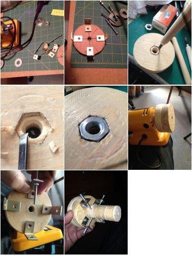 Wood lathe chuck DIY (Woodworking Lathe)
