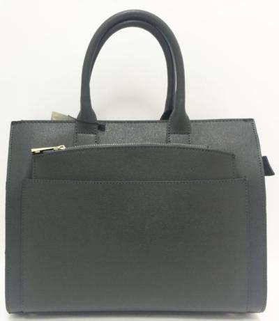 Grey color Italian Saffiano Leather Briefcase Bag