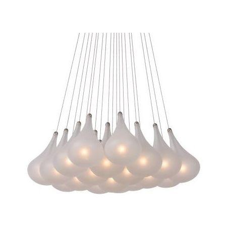 Lampa wisząca Tears Bunch - klosze zostały wykonane z satynowego szkła. https://blowupdesign.pl/pl/33-wiszace-stolowe-lampy-szklane-kule-styl-nowoczesny #lampyszklane #lampysufitowe #oświetlenie #glasslamps #ceilinglamps #lighting