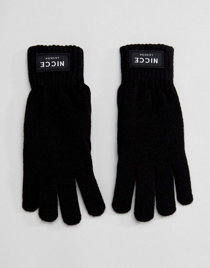 Nicce London Gloves In Black - Black