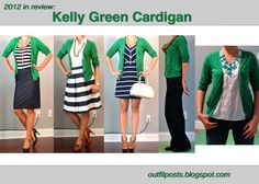 Kelly Green Cardigan Outfit Ideas