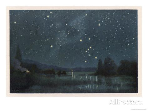 Star-Filled Sky Featuring the Constellation of Orion Giclee Print by W. Kranz at AllPosters.com