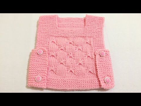 Side Button Easy Baby Vest How? (The beginning Last Lecture) - knitting patterns - knitting - YouTube