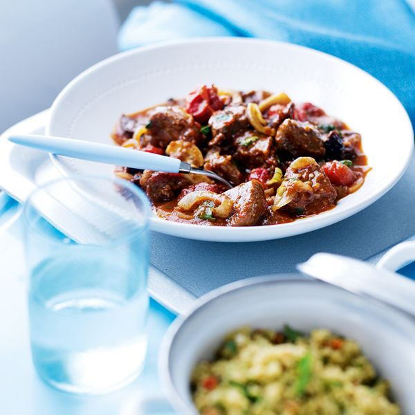 This easy Moroccan lamb tagine is a great recipe for using up storecupboard spices – cumin, ginger, coriander and cinnamon. And it's low in calories too.