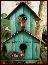 casa de passarinho em pintura country - Pesquisa Google
