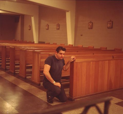 Albert DeSalvo prays in the chapel at Walpole State Prison.