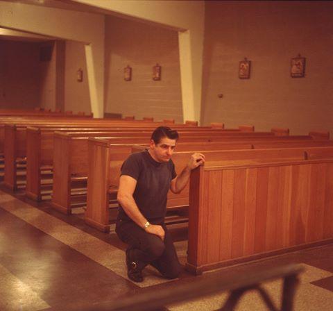Albert DeSalvo prays in the chapel at Walpole State Prison.