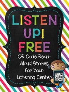 {FREE} QR Code Read-aloud Stories for Your Listening Center