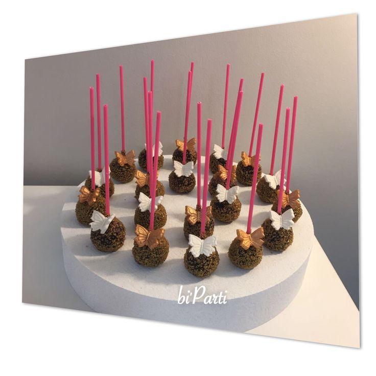 Cakepop. Cakepops. Popcake. Popcakes. Butterfly cakepops. Butterfly party ideas. Butterfly party.