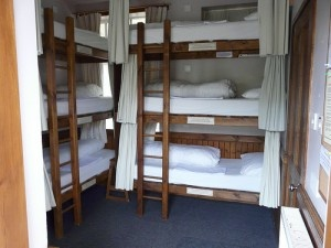 Triple bunks!: Bunk Beds Plans, Tiny Bedrooms, Curtains, Boys Bedrooms, Boys Rooms, Beaches Houses, Triple Bunk Beds, Bunkbeds, Kids Rooms