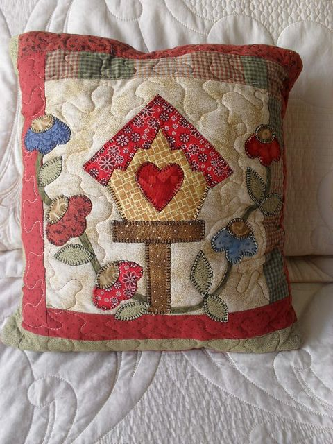 heart, birdhouse, flowers, applique