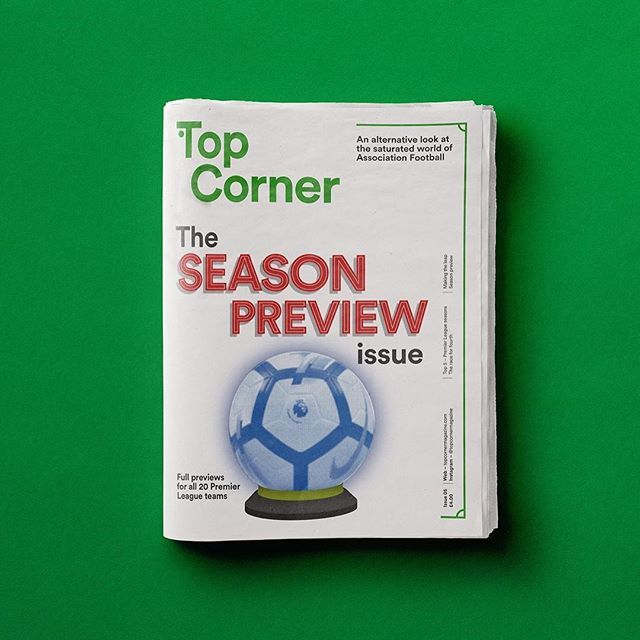 Issue 5: The Season Preview - available now on our improved online store!! #topcornermagazine #football #design #illustration #infographic #stats #epl #premierleague