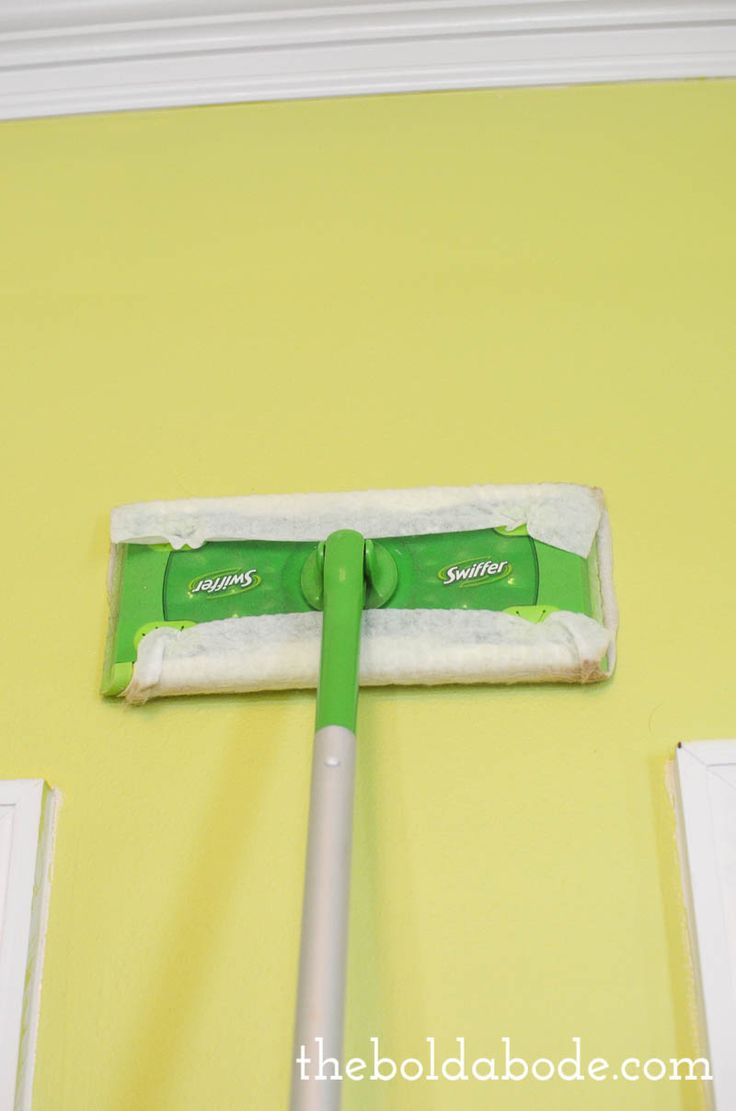 Tip #4: SWIFFER DUST ALL OF YOUR WALLS. {from 7 Things You Need to Do Before You Ever Pick Up a Paintbrush! {or how to prep a room for paint like a pro}