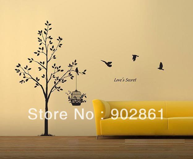 Cheap wall stickers home, Buy Quality stickers big directly from China sticker free Suppliers: [funlife]-Free Ship Romantic Tree Love's Secret Vinyl Wall Sticker Decal Wall Sticker for Living Room Decoration&n