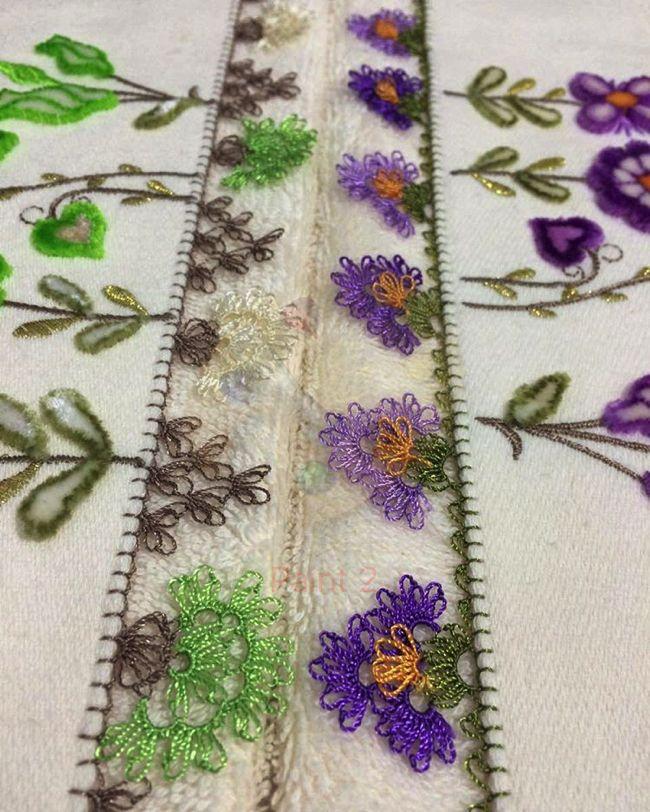 Yeni iğne oyası havlu kenar dantelleri #crochet #örgü #havlu #lifmodelleri…