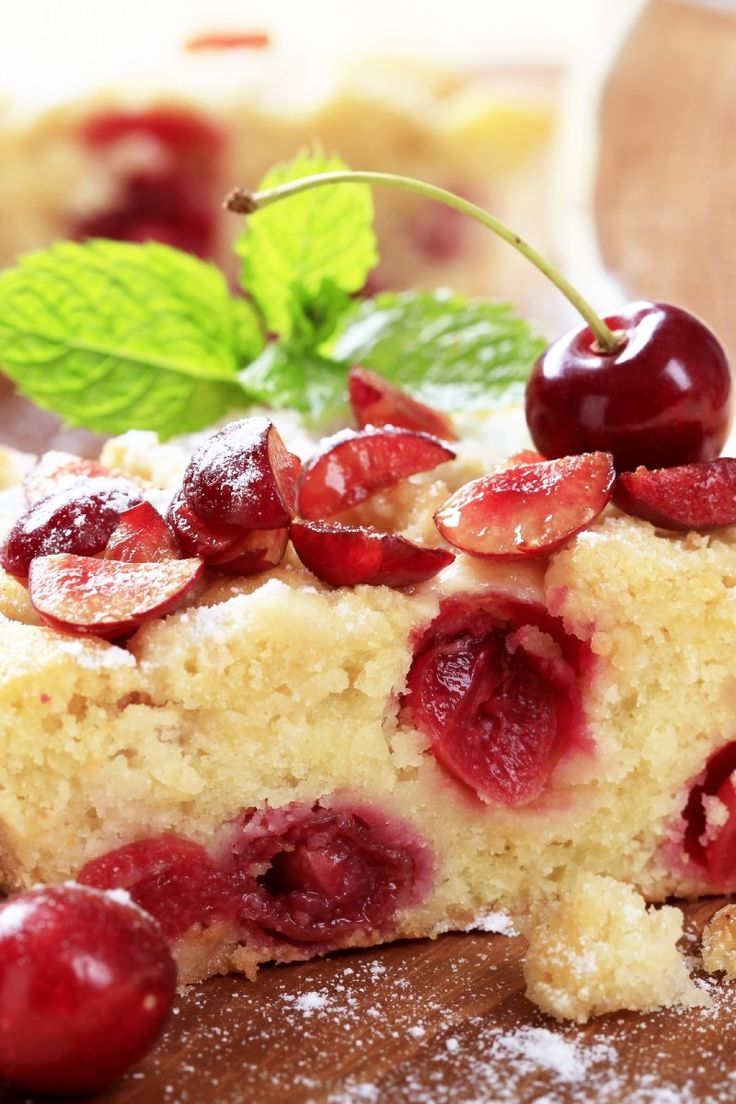 Cherry Clafoutis Recipe: Rustic French dessert of juicy cherries baked ...
