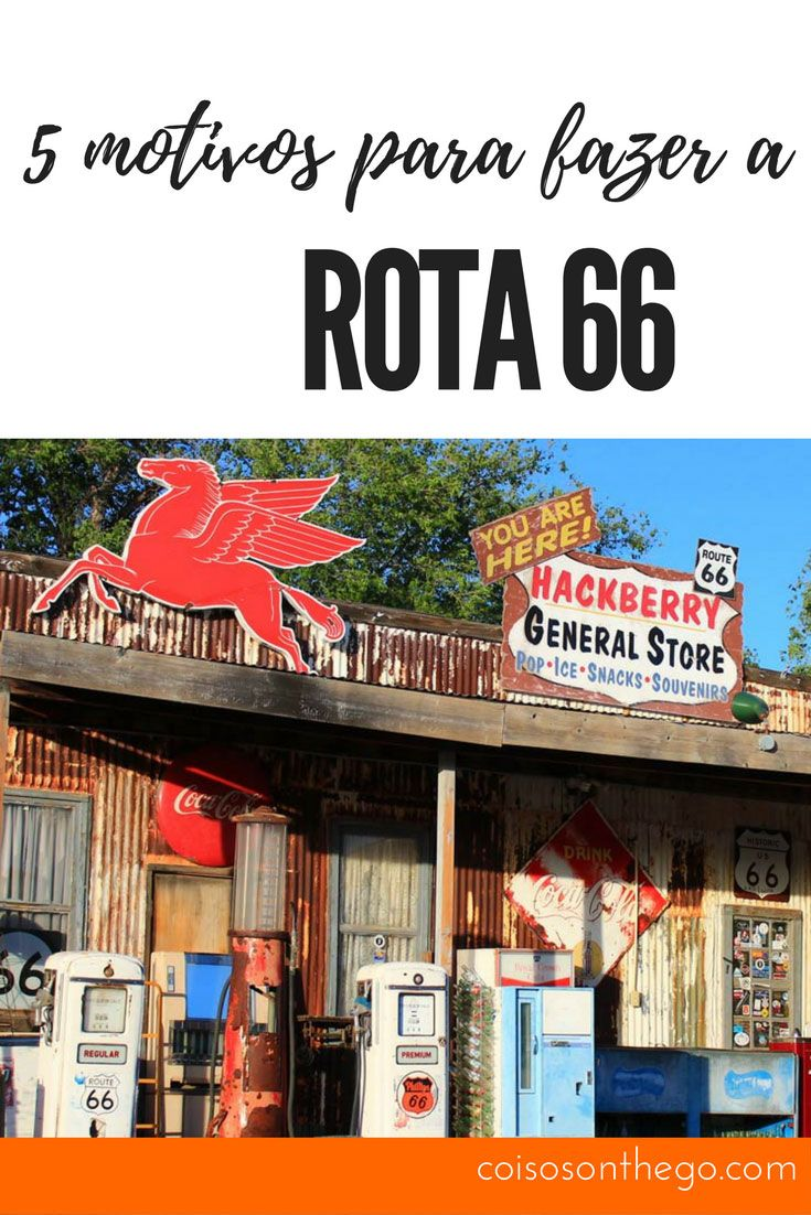 Já imaginou cruzar os Estados Unidos percorrendo a Rota 66 de Chicago até Santa Mônica? nós te damos 5 motivos! Get Your Kicks On Route 66!