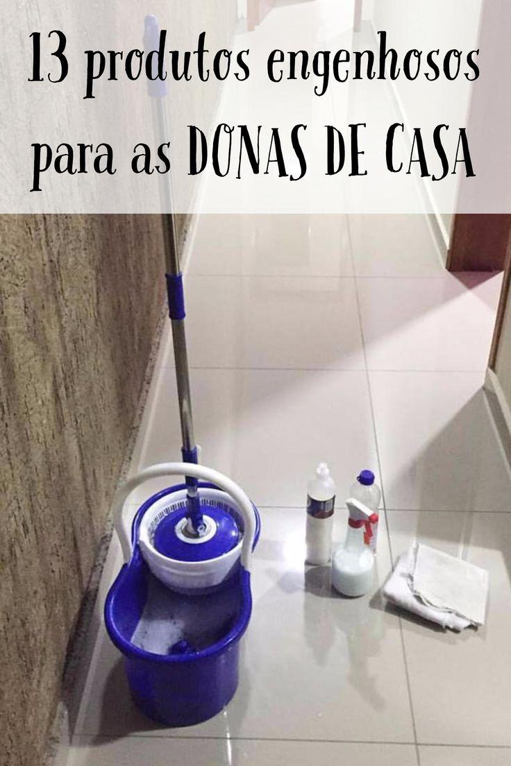 Produtos que auxiliam na limpeza diária da casa. Praticidade e agilidade no dia a dia da dona de casa