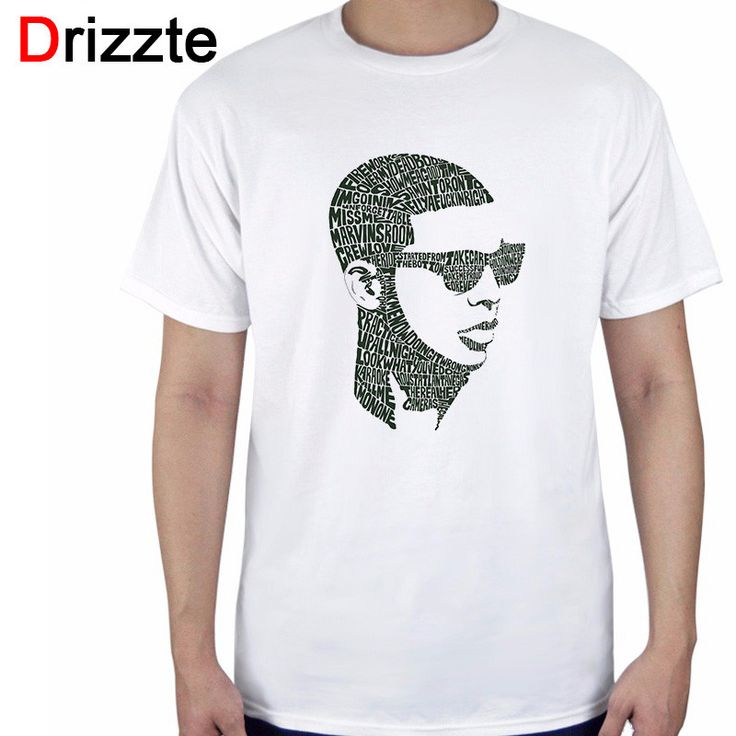 Drizzte Brand Mens Fashion t Shirts Aubrey Drake Graham Short Sleeve White Tee Shirts Design