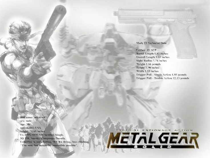 Games Wallpaper: Metal Gear Solid Black and White