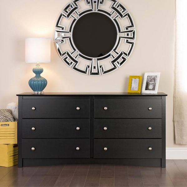 Broadway Black 6-drawer Dresser | Overstock.com Shopping - The Best Deals on Dressers