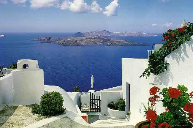 Dream destination: Buckets Lists, Santorini Greece, Favorite Places, Dreams Vacations, Places I D, Greek Islands, Greek Isle, Deep Blue Sea, Dreams Destinations