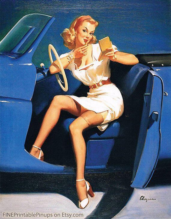 11 best images about printable pin up girls on pinterest 50 girl car and retro illustration. Black Bedroom Furniture Sets. Home Design Ideas