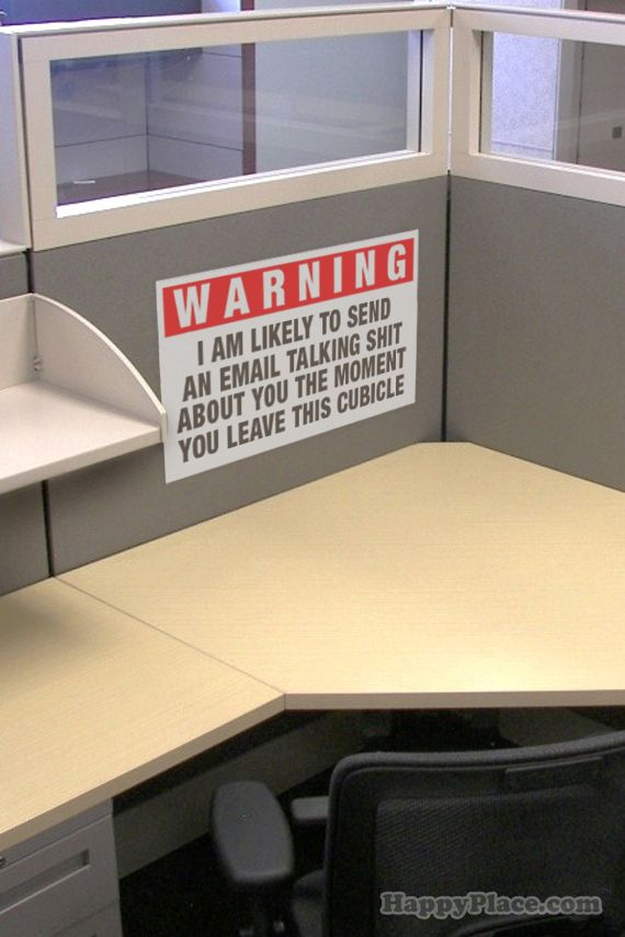 Hilarious faux workplace signs. I need to make these a ...