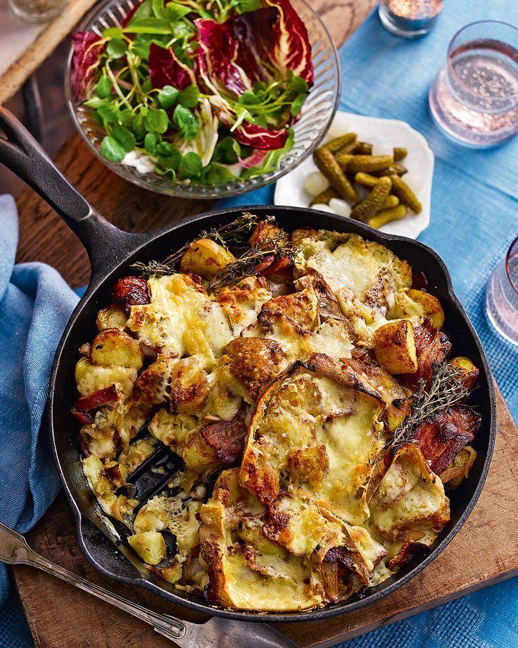 Kartoffel, Speck und Raclettepfanne gratiniert – Vanessa Mortimore   – social penguin