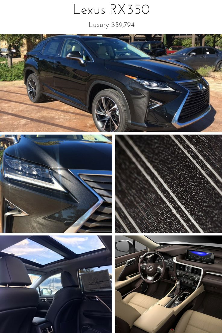 The 2017 Lexus RX350 with Luxury Package.