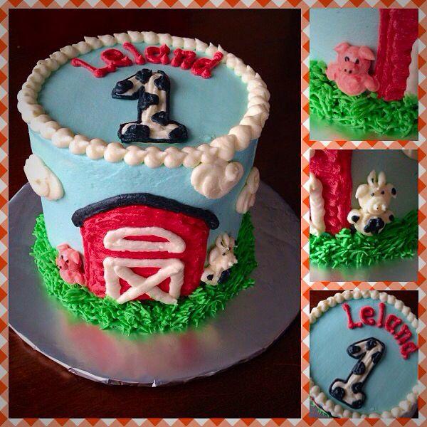 Farm Animal Theme Boy Birthday Smash Cake My Own