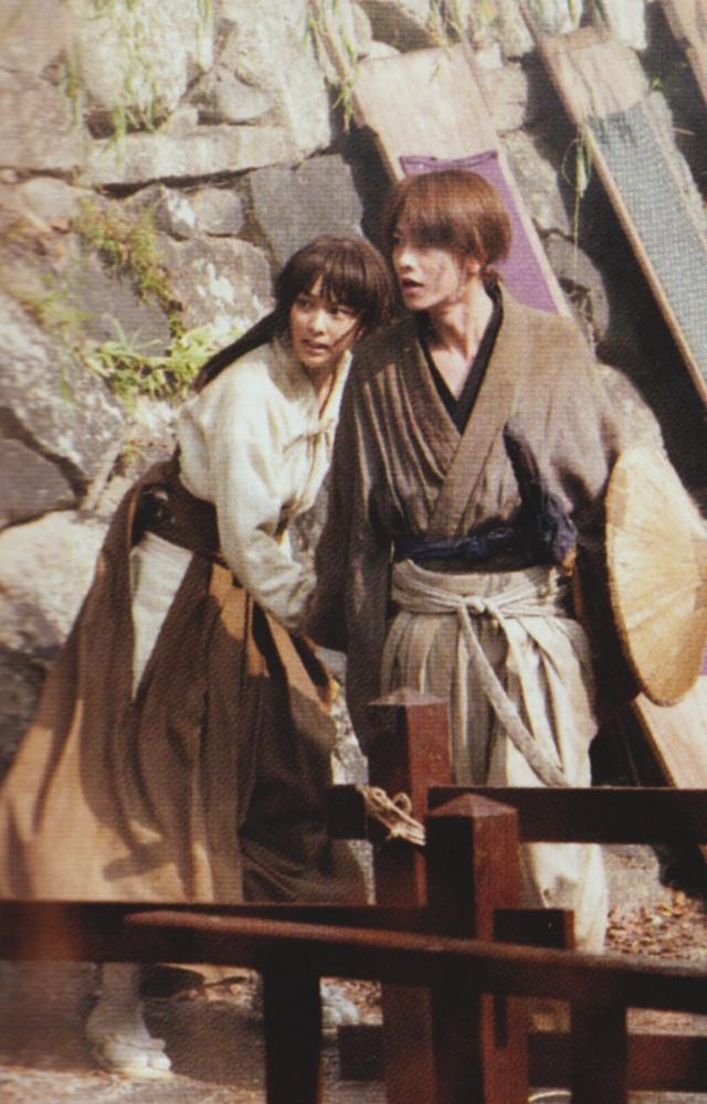emi takei as kaoru kamiya takeru sato as kenshin himura