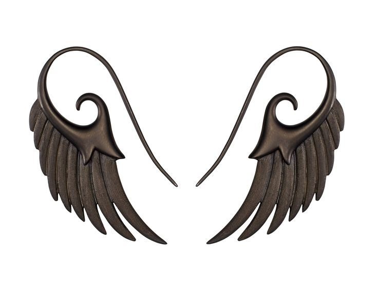 Jewels that Rock - Noorfares Black Wing Earrings are a tribute to travel with just the right amount of rock and roll edge
