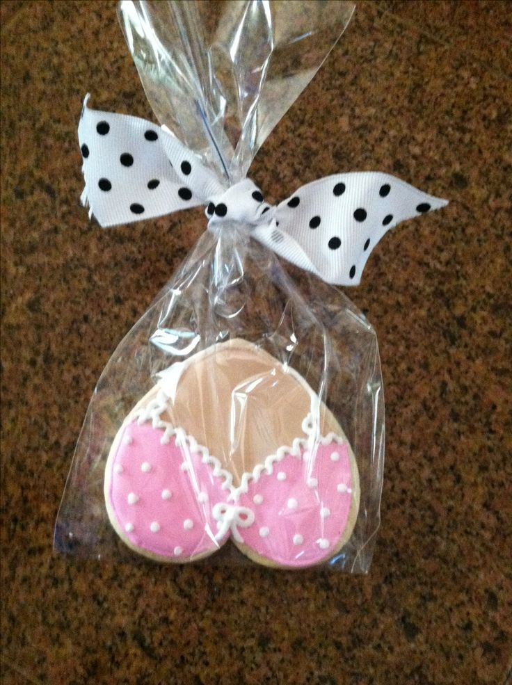 Beating Breast Cancer Celebration bra heart shaped cookies