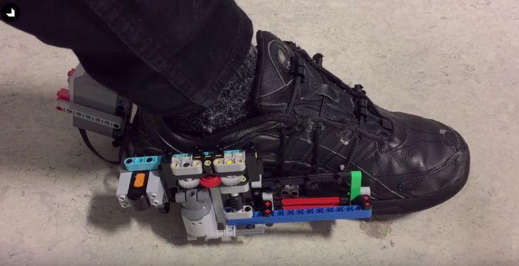 Des sneakers Nike qui se lacent toutes seules grâce à un mécanisme LEGO