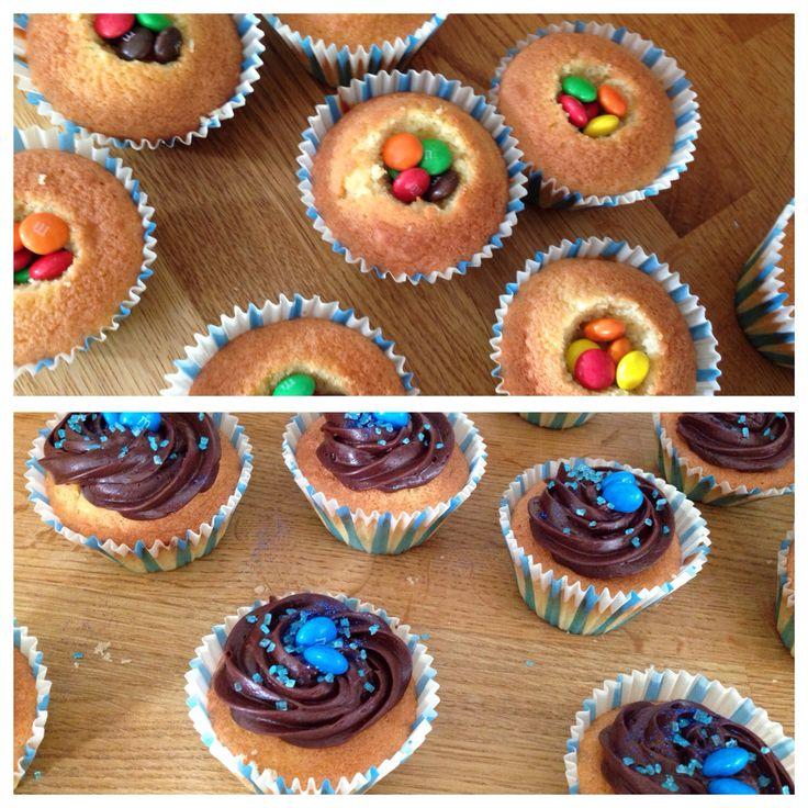 It's a boy cupcakes - with hidden treats inside!