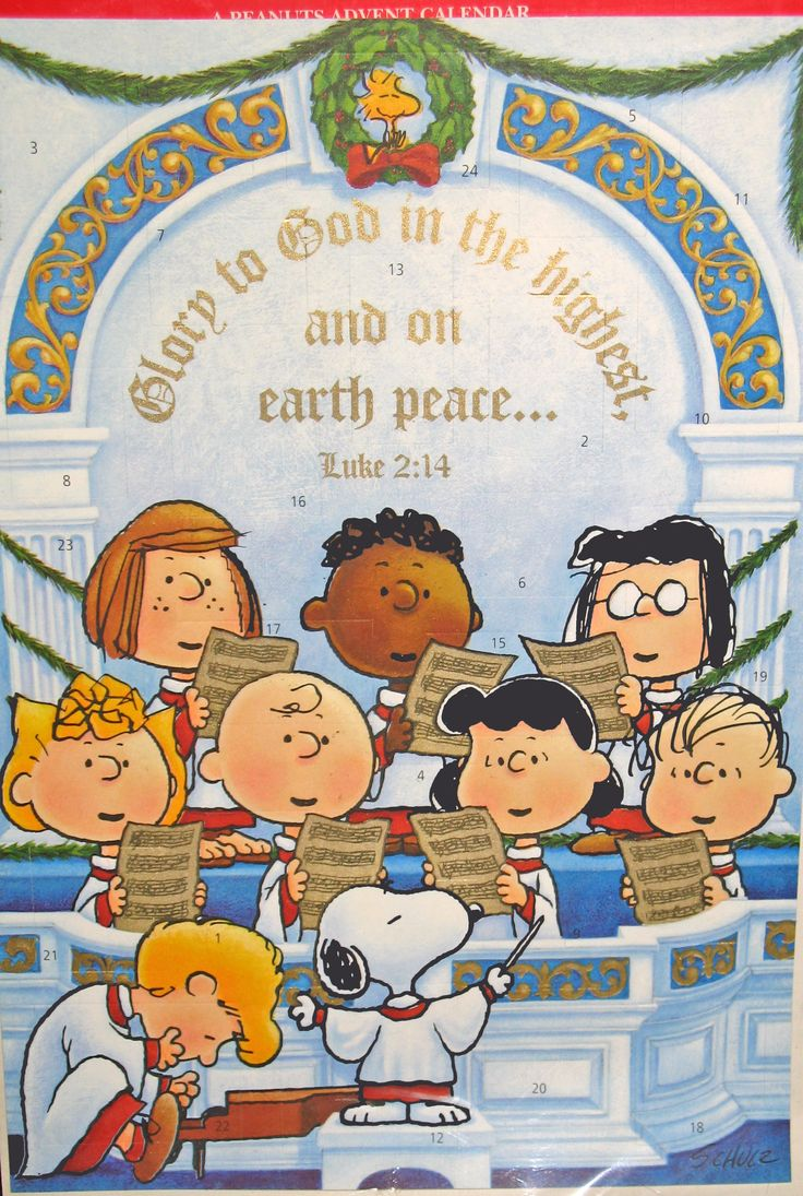 Peanuts Advent Calendar In Praise To The Lord With Envelope For Mailing