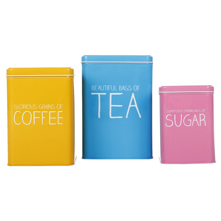 Discover the Happy Jackson Tea, Coffee & Sugar Nesting Tins at Amara