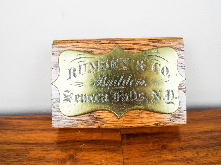 Antique American Brass Corporate Sign for Rumsey & Co Seneca, NY