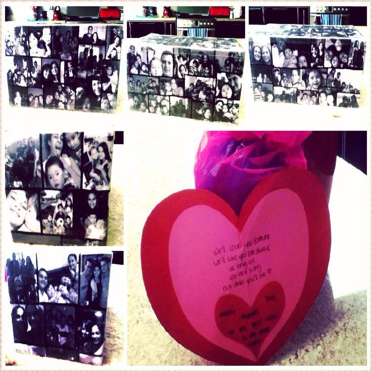 Mi Cajita regaló día de las Madres! Forrado Collage de Fotos. #GabbyDesing.